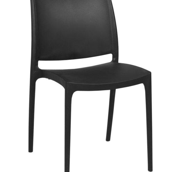 zwarte lounge stoel